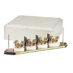 Grille dérivation - IP 30 - IK 07 - 4P - câble section 25 mm² - beige RAL 7032