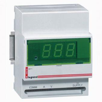 Ampèremètre/voltmètre digital - 230 V~ - 50/60 Hz - 4 modules