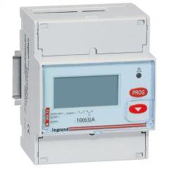 Compteur d'énergie triphasé EMDX³ - non MID - raccdt direct 63 A - 4 mod
