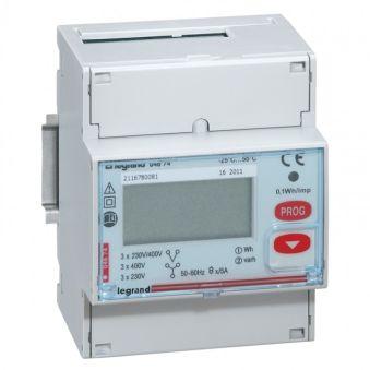 Compteur d'énergie triphasé EMDX³ - non MID - raccdt TI 5 A - 4 mod