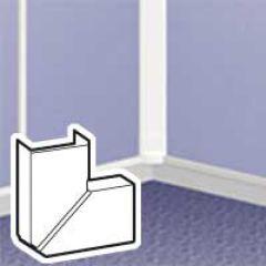 Angle plat variable - pour moulure DLPlus 40x12,5 - blanc