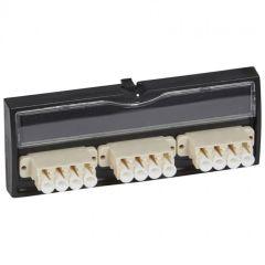 Bloc fibre optique LC - 12 fibres multimode - pour panneau/tiroir optique - LCS²