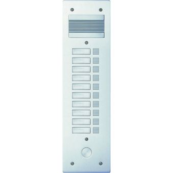Platine de rue Série 200 audio étroite - façade Alu 4 mm - 10 appels