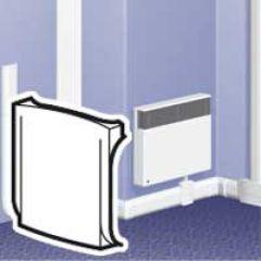 Dérivation en T et angle plat - pour plinthe DLPlus h. 20 - blanc