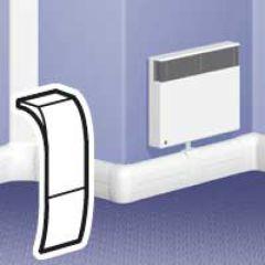 Embout sabot - pour plinthe DLP 140x35 - blanc