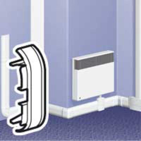 embout pour plinthe dlplus 80x20 blanc achat vente. Black Bedroom Furniture Sets. Home Design Ideas