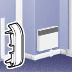 Embout - pour plinthe DLPlus 120x20 - blanc