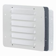 Ouïe d'aération métal - IP32 IK10 - RAL 7035 - 248 x 248 mm