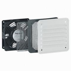 Ventilateur 30/160 m³/h - RAL 7035 - avec ouïe métal - IP32 IK10