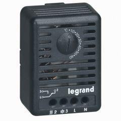 Thermostat-pour coffret/armoire-10A, 250 V~-IP 20-réglable de 5 à 60°-fix. Rail