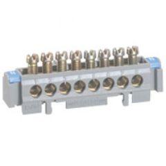 Bornier de répartition - nu sur support - 1 connexion 6 à 25 mm² - L. 141 mm