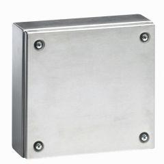 Boîtier industriel Atlantic inox carré 200x200x80 mm - IP 66 - IK 10
