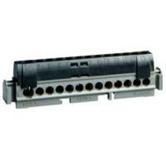 Bornier de répartition IP 2X - phase - 1 connexion 6 à 25 mm² - noir - L 176 mm