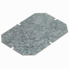 Plaque de montage métal - ép 15/10 - pour boîtiers indus 155x110