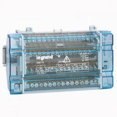 Répartiteur mod monobloc - 4P - 125 A - 17 connexions - 10 modules