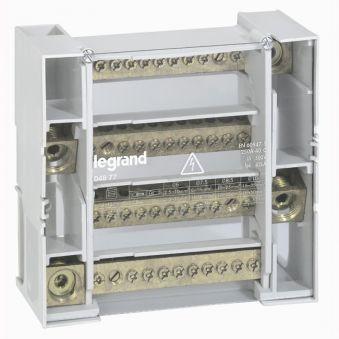 Répartiteur mod monobloc - 4P - 250 A - 12 connexions - 9 modules