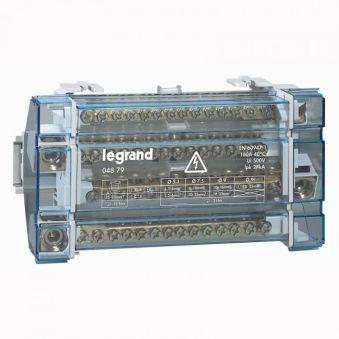 Répartiteur mod monobloc - 4P - 160 A - 15 connexions - 10 modules