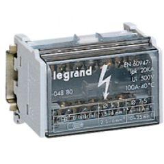 Répartiteur mod monobloc - 2P - 125 A - 15 connexions - 8 modules