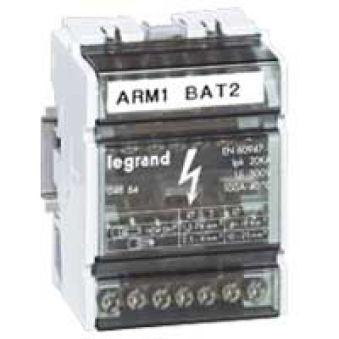 Répartiteur mod monobloc - 4P - 125 A - 11 connexions - 6 modules
