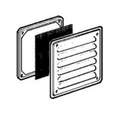 Ouïe d'aération métal - IP32 IK10 - RAL 7032 - 138 x 138 mm