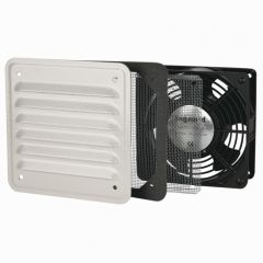 Ventilateur 30/160 m³/h - RAL 7032 - avec ouïe métal - IP32 IK10