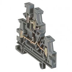 Bloc jonc Viking 3 à vis - 2 jonctions - 2 étages - à diode - gris - pas 6