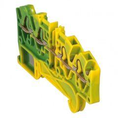 Bloc jonc Viking 3 à ressort - 1 jonc/4 conduc -2entr/2sort-vert/jaune - pas 5