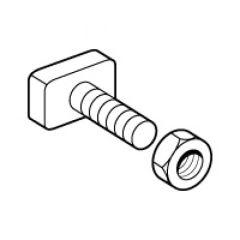 Vis-écrou marteau M8 - pour barre en C cuivre