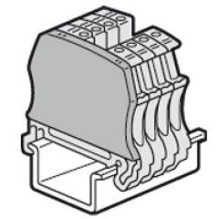 Cloison terminale pr bloc jonc Viking 3 à vis - 1 entr/1 sort - pas 12 et 15