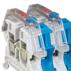 Ecran de protection pour bloc jonc Viking 3 vis - 1P - 1entr/1sort - pas 12/15