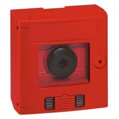 Coffret de sécurité ''bris de glace'' - double position -rouge + voyant -saillie