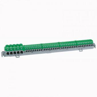Bornier de répartition IP 2X - connexion auto - 5 bornes à cage - L 276 mm