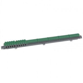 Bornier de répartition IP 2X - connexion auto - 5 + 5 bornes à cage - L 385 mm