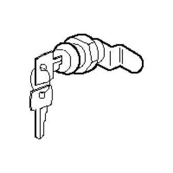 Serrure n° 405 - pour porte façade - coffret GTL encastré