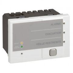 Tableau de synthèse d'alarmes incendie Prog Mosaic - 3 mod - blanc