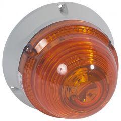 Feu à LEDs clignotant/fixe 55 candelas - 24 V~/= - orange