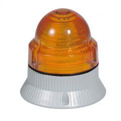 Feu clignotant/fixe 10 candelas - IP 54 - IK 09 - 12 à 48 V= - orange