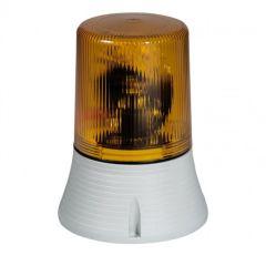 Feu clignotant/fixe 55 candelas - IP 65 - IK 10 - 12 à 48 V= - orange