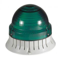 Feu clignotant/fixe 55 candelas - IP 54 - IK 10 - 24 à 230 V~ - vert
