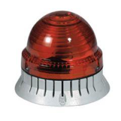 Feu à éclats 1000 candelas - IP 54 - IK 10 - 12 à 24 V~/= - rouge