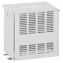Transfo séparation circuit tri protégé - prim 400 V/sec 400 V+N - 1600 VA -écran