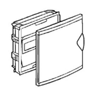 Coffret mini encastré - porte isolante blanc RAL 9010 - 1 rang - 6+2 mod