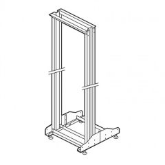 Bâti-rack 19'' - 42 U - 2 montants - 1956x540x640 mm