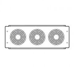 Plaque 19'' - 3 U - avec 3 ventilateurs 230 V~ - gestion thermique baies - LCS²
