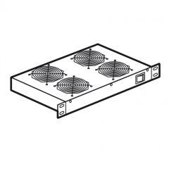 Tiroir de ventilation - pour baie LCS² 19'' - 1 U - 2 ventilateurs - prof 150 mm