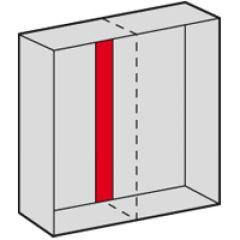 Plaque intermédiaire - pour armoire Altis assemblable Haut. 1600 mm