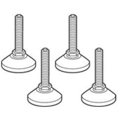 Pieds de mise à niveau inox (4) - pour armoires Altis inox