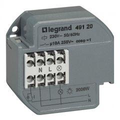Télérupteur 1P - 10 AX - 230 V~ - 50/60 Hz - intensité max acceptée 50 mA