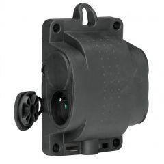 Bloc multiprise caout - 4x2P+T - 16 A - anneau de suspension - noir