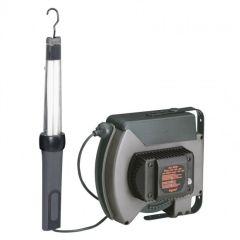 Baladeuse fluo raccordée - avec enrouleur à rappel auto - 24 V~ - avec transfo